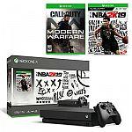 Xbox One X 1TB NBA 2K19 Bundle + Call of Duty $290