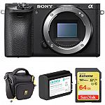 Sony a6500 Mirrorless Digital Camera Body w/ Accessory Kit $798 (Org $1198) & More