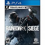 2X Tom Clancy's Rainbow Six: Siege PlayStation 4 + $50 Gift Card $54