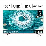 "50"" Hisense 50H8F 4K UHD HDR Android Smart LED HDTV $260"