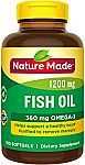 100-Ct Nature Made Fish Oil 1200 mg w/ Omega-3 360 mg Softgels $3.82