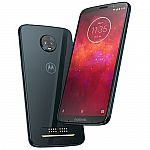 64GB Moto Z3 Play Unlocked Smartphone + 3-Mo Mint Mobile 12GB Plan + 2 Shells $200
