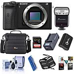Sony Alpha a6600 Mirrorless Digital Camera Body w/ Flash Accessory Bundle $1,198 and more