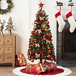 Holiday Time Pre-Lit Christmas Tree 5 ft with Decorations $24