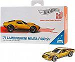 Hot Wheels id '71 Lamborghini Miura P400 SV $4.19 (40% Off) and many more