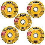 "5-Pack DeWALT 4-1/2"" All Purpose Cutting Wheel $3"