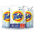 9 Pack of 48 oz. Pouches, Tide Free and Gentle HE Laundry Detergent $36.27 ($4.03 / Pack)