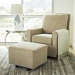 Abbyson Living Leyla Gliding Chair with Ottoman (Beige) $149.99 shipped