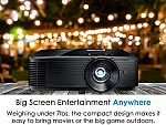 Optoma HD143X Affordable High Performance 1080p Home Theater Projector, 3000 Lumens, 3D Support $337