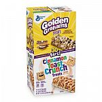 30-count Golden Graham and Cinnamon Toast Crunch Cereal Bar Treats $0.91