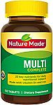 Amazon BOGO Free Promotion: 260-Ct Nature Made Multivitamin Complete Tablets $7.87 & More