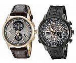 Citizen Men's Eco-Drive World Chrono Atomic Timekeeping Watch $193, Navihawk Atomic Timekeeping Watch, JY8035-04E $210 and more