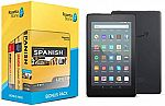 Rosetta Stone Bonus Pack Bundle (Lifetime Online Access + Grammar Guide and Dictionary Book Set) with Fire 7 Tablet $149.99