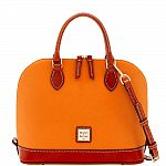 Dooney & Bourke Pebble-Grain Zip Satchel $69 + Free Shipping & More