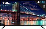 "65"" TCL 65R615 6 Series 4K UHD HDR Roku Smart HDTV $425"