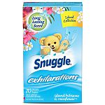 70-Ct Snuggle Exhilarations Fabric Dryer Sheets (Hibiscus & Rainflower) $0.70