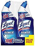 4-Pack 24-oz Lysol Power Toilet Bowl Cleaner $3.35 or Less