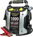 STANLEY 1000/500 Amp Jump Starter w/120 PSI Compressor $34