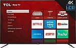 "TCL 75"" LED 4 Series 2160p Smart 4K UHD TV with HDR Roku TV $650"