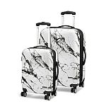 Geoffrey Beene 2 Piece Marble Hardside Luggage Set $120