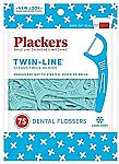 75-Count Plackers Twin-Line Dental Floss Picks $1.66
