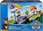 Paw Patrol, Chase's Ride 'N' Rescue, Transforming 2-in-1 Playset & Police Cruiser $10 (Org $25)