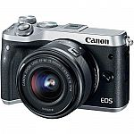 Canon EOS M6 Mirrorless Digital Camera with 15-45mm Lens $349 (Org $799)