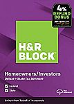 H&R Block Tax Software Deluxe + State 2019 with 4% Refund Bonus Offer $22.49 (50% Off)  & More
