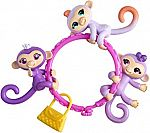WowWee Fingerlings Minis-Series 1-5 Piece Banana Blister 3 Figures Plus BONUS Bracelet and Charm $2