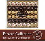 48-Ct Ferrero Rocher Fine Hazelnut Milk Chocolate & Coconut Confections $16.60