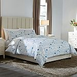 Dagmar 3-Piece Washed Denim Square Full/Queen Duvet Cover Set $24 (Org $75) & More
