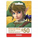 Nintendo eShop $50 Digital Card $44.99