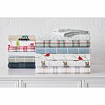 Cotton Flannel 4-Piece King Sheet Set from $13, 2-pc Flannel Comforter Set from $26