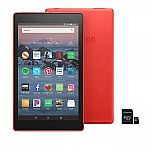 "Fire HD 8"" 16GB Alexa-Enabled Tablet with 32GB SD Card $60 + Free Shipping"