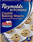 Reynolds Kitchens Cookie Baking Parchment Paper Sheets (SmartGrid, Non-Stick, 22 Sheets) $2.53