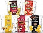 36 Count Simply Brand Organic Doritos Tortilla Chips, Lay's Potato Chips, Cheetos Puffs, Variety Pack $10.62 and more