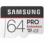 64GB Micro PRO Samsung UHS-1 Class10 Endurance (2 for $20.78  shipped)