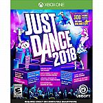 Ubisoft Just Dance 2018 Xbox One $9.99