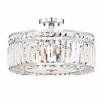 Home Decorators Collection 3-Light Chrome Semi Flush Mount $98 (30% Off) & More Fans & Lights + Free Shipping