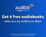 Try Audible on Amazon Echo, Get 4 audiobooks for Free