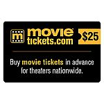 $50 Value Gift Cards for MovieTickets.com, Krispy Kreme, or Bonefish $37.50