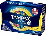 144-Ct Tampax Pocket Pearl (Regular Absorbency, Unscented) $22.56,  200-Ct Tamapx Pearl Plastic Tampons (Multipack, Unscented) $31.68 & More