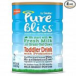 4-Pack of 31.8oz Pure Bliss by Similac Toddler Drink w/ Probiotics $65.05