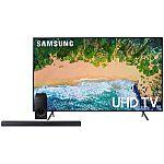 "Samsung 58"" Class 4K (2160p) Smart TV + 2.1 Channel Soundbar w/ Wireless Subwoofer $579"