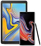 "128GB Samsung Galaxy Note 9 Factory Unlocked  + 10.5"" Galaxy Tab A Bundle $999.99 & More"