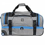 "Ful Streamline 30"" Grey Soft Rolling Duffel Bag $75 and more"