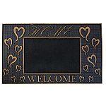 """FH Group Indoor/Outdoor 18""""x30"""" Welcome Rubber Door Mat (Various Design) $5.82 & More"""