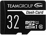 Team 32GB Dash Card microSDHC UHS-I/U1 Class 10 Memory Card with Adapter $4.66