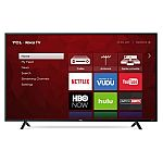 "Refurbished TCL 55"" Class 4K (2160P) Roku Smart LED TV $250"