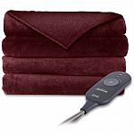 Sunbeam Electric Heated Microplush Throw Blanket $17